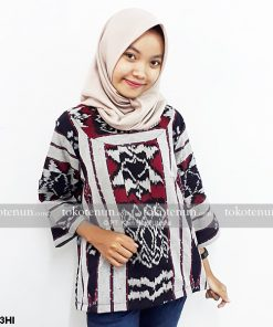 Simple Blouse Tenun Ikat