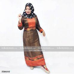 Gamis Wanita Muslimah Tenun Baron